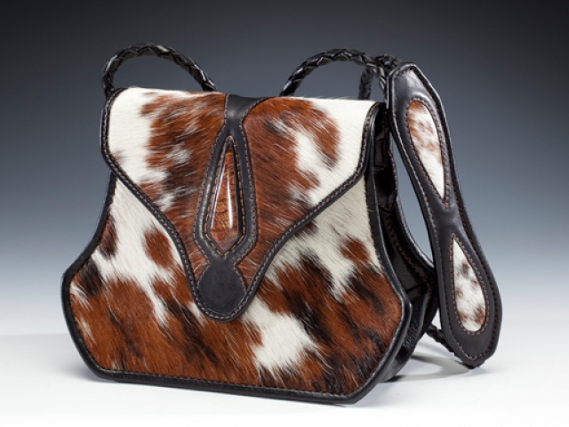 Brazilian Cowhide & Stone Handbag