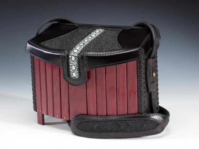 Purpleheart & Stingray Handbag