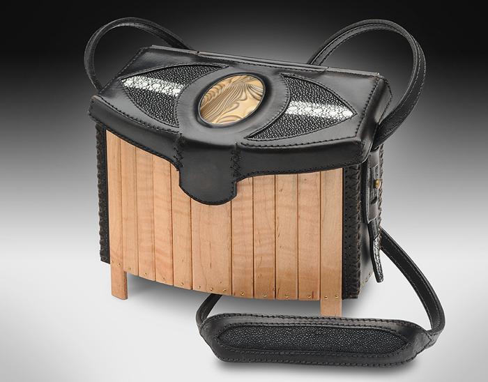 Leather Wood & Stone Handbag