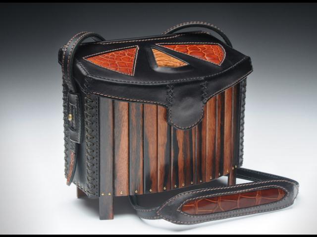 Leather, Wood, & Stone Handbag