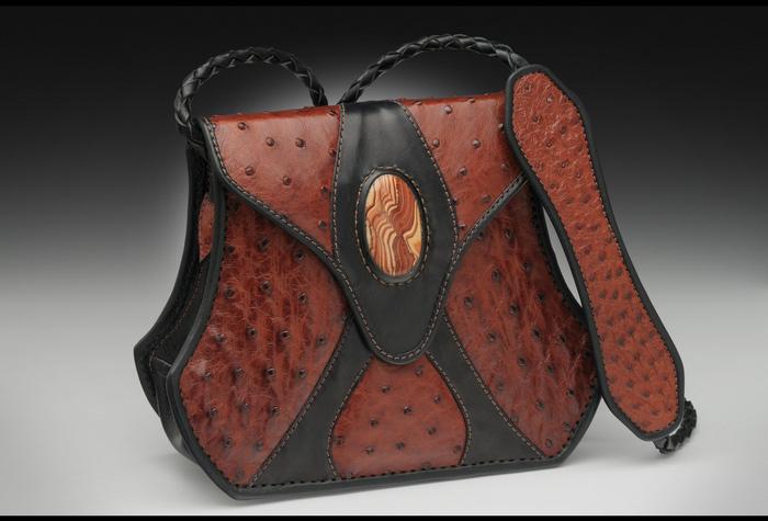 Ostrich & Stone Handbag