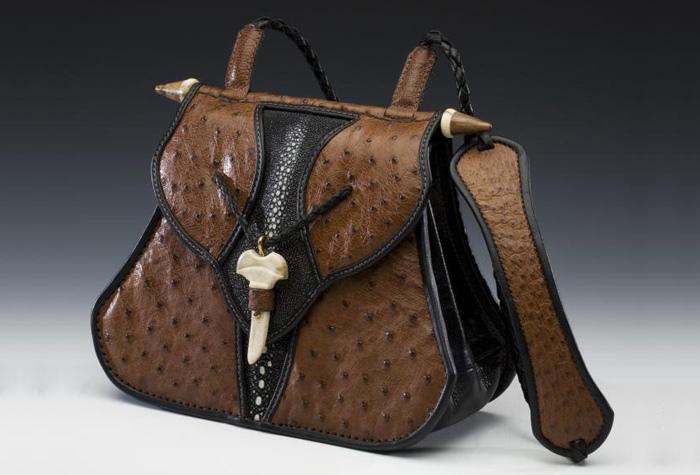 Ostrich & Stingray Handbag