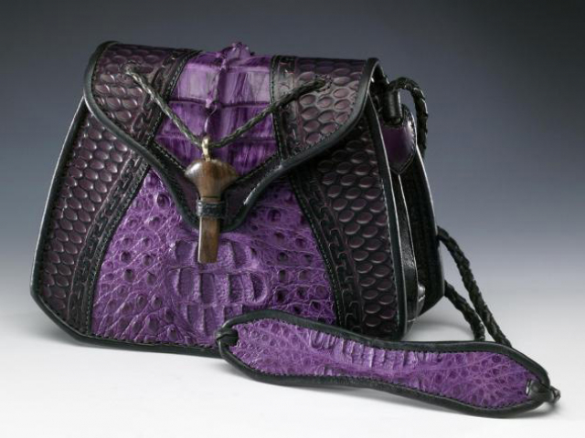 Purple Alligator Handbag