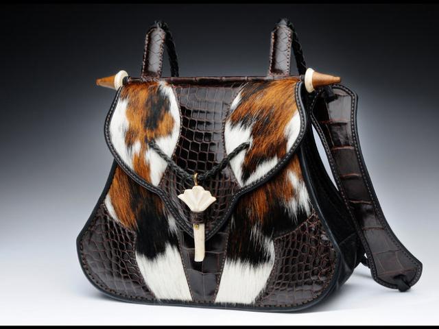 Brazilian Cowhide & Alligator Handbag