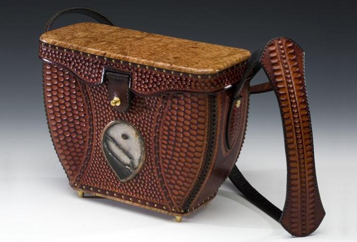 Burlwood & Stone Handbag