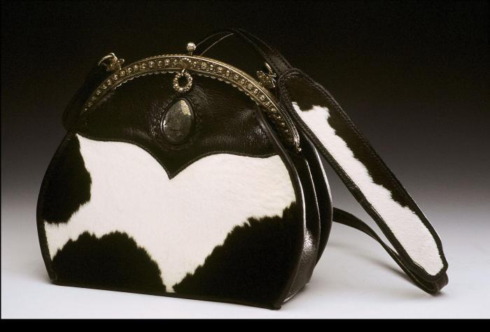 Calfskin & Stone Handbag
